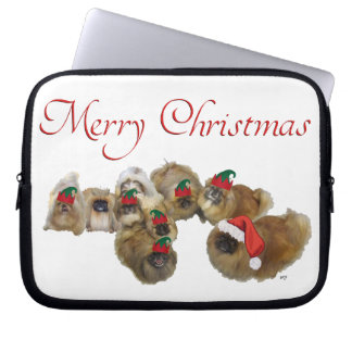 Pekingese Celebrate Christmas Computer Sleeves