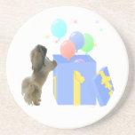 Pekingese Celebration Balloons Drink Coaster