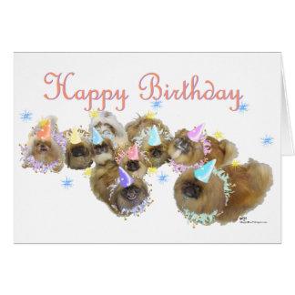 Pekingese Celebration Birthday Greeting Card