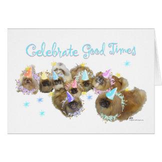 Pekingese Celebration Group Cards