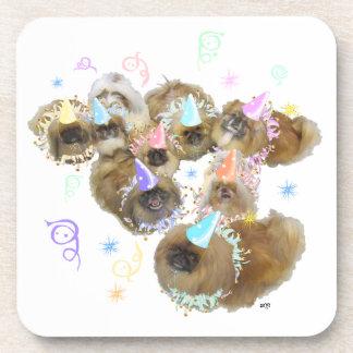 Pekingese Celebration Group Beverage Coasters