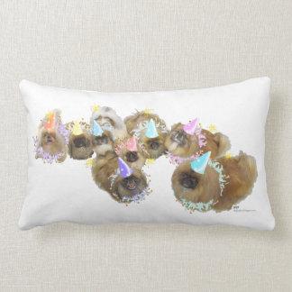 Pekingese Celebration Group Lumbar Pillow