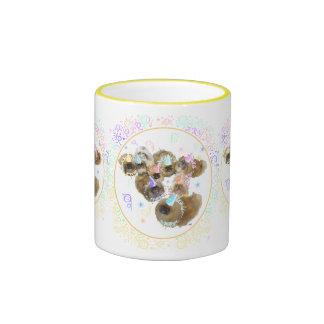 Pekingese Celebration Group Ringer Coffee Mug