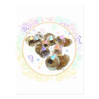 Pekingese Celebration Group Postcard