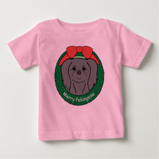 Pekingese Christmas Baby T-Shirt