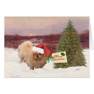 Pekingese Christmas Greeting Cards