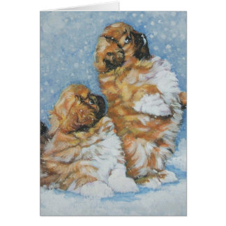 Pekingese Christmas Card