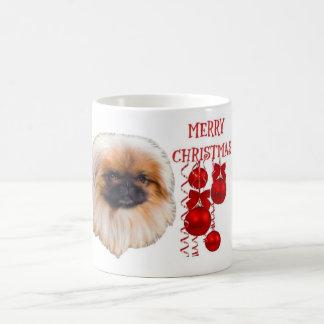 Pekingese Christmas Coffe Mug Cup