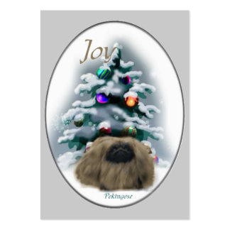 Pekingese Christmas Gifts Large Business Cards (Pack Of 100)