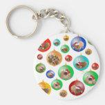 Pekingese Christmas Ornaments Basic Round Button Keychain