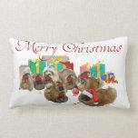 Pekingese Christmas Throw Pillow