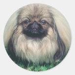 Pekingese Classic Round Sticker