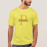 Pekingese Dog Breed/Dog Lovers Initials Shirt