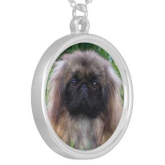 Pekingese dog cute photo necklace