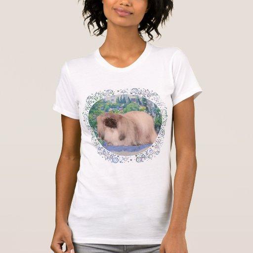 Pekingese Dog in Flower Garden Shirts