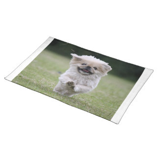 Pekingese dog place mat, cute photo table mat