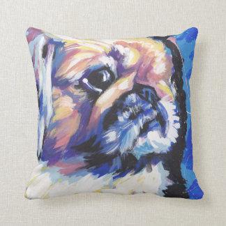 pekingese Dog Pop Art Throw Pillow