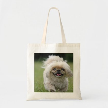 Pekingese dog tote bag, gift idea budget tote bag