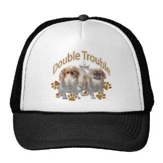 Pekingese Double Trouble Casual Apparel Trucker Hats