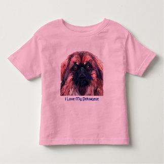Pekingese en la camiseta brillante de Childs de Remera