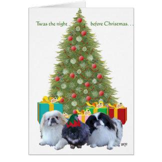 Pekingese Family Christmas Cards