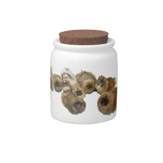 Pekingese Group Candy Jars