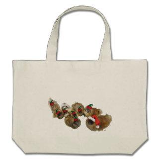 Pekingese Group Celebrates Christmas Bags