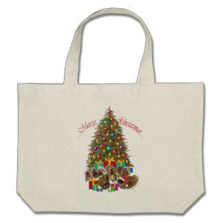 Pekingese Group Celebrates Christmas Tote Bag