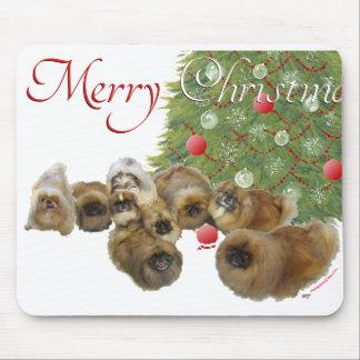 Pekingese Group Celebrates Christmas Mouse Pad