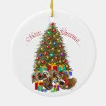 Pekingese Group Christmas Christmas Tree Ornament