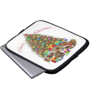 Pekingese Group Christmas Laptop Computer Sleeve