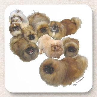 Pekingese Group Drink Coaster