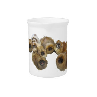 Pekingese Group Drink Pitcher