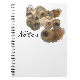 Pekingese Group Spiral Note Books