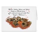 Pekingese Group on Halloween Greeting Card