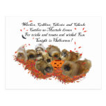 Pekingese Halloween Post Card