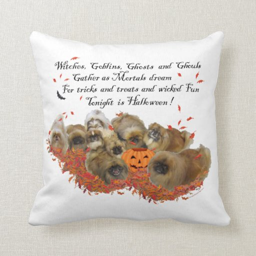 Pekingese Halloween Throw Pillow