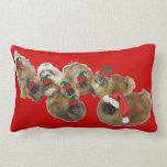 Pekingese Holidays Throw Pillow
