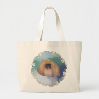 Pekingese Ice Princess Jumbo Tote Bag