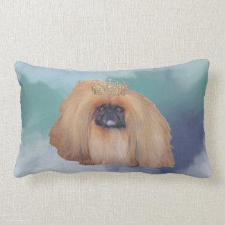 Pekingese Ice Princess Lumbar Pillow