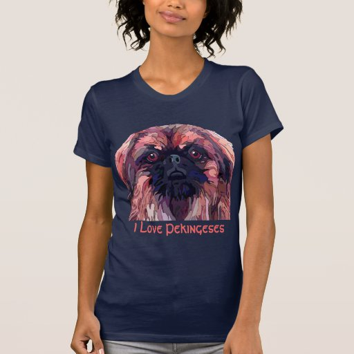 Pekingese in Bright Colors Womans T-Shirt