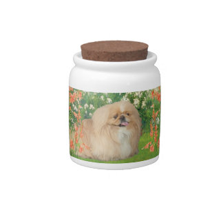 Pekingese in the Garden Candy Dishes