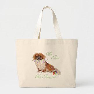 Pekingese is Not Amused Large Tote Bag