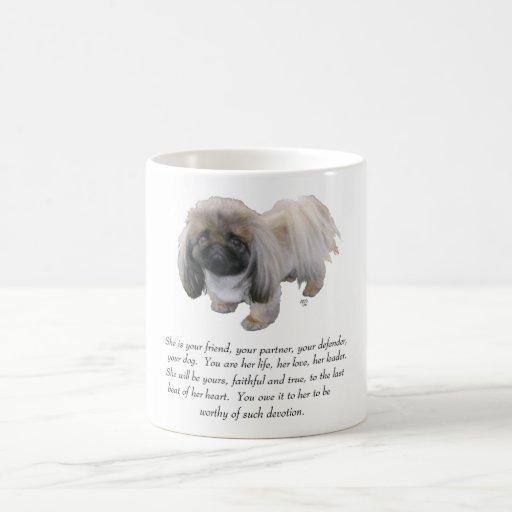 Pekingese Keepsake - FEMALE Classic White Coffee Mug