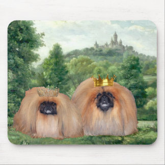 Pekingese King & Queen with Dream Castle Mouse Pad