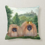 Pekingese King & Queen with Dream Castle Pillows