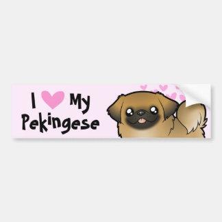 Pekingese Love (puppy cut) Bumper Sticker
