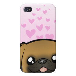 Case Savvy iPhone 4 Matte Finish Case with Pekingese Phone Cases design