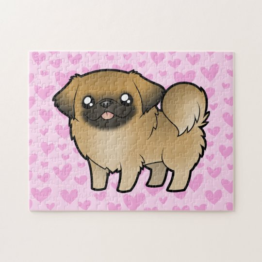 Pekingese Love (puppy cut) Jigsaw Puzzle