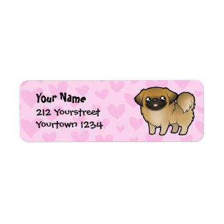 Pekingese Love (puppy cut) Return Address Label